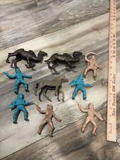 Vintage Bedouin Foreign Legion Arab Plastic Figures w/Camel Payton 1960s Playse