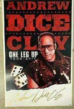 """Andrew Dice Clay Poster Signed Autograph #ed/100 One Leg Up Tour 11"""" x 17"""""""