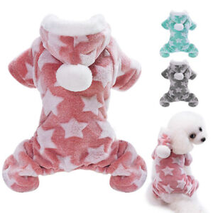 Dog Soft Fleece Jumpsuit Winter Dog Clothes Outfits Hoodie Small Puppy Coat Pet