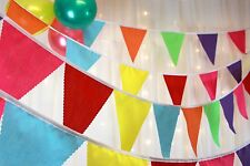 Fabric party bunting - multi coloured - weddings parties baby shower - 5 metres