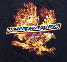 HARLEY DAVIDSON EAGLE FIRE UP VINTAGE HARLEY DEALER SHIRT (XL)