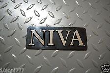 Badge Black + Chrome Inscription NIVA Very Rare!!! Lada Niva Export Version NEW