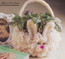Crochet Pattern ~ BUNNY BASKET Easter ~ Instructions