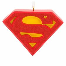 NEW Hallmark Glitter Superman Shield Resin 2013 Christmas Ornament