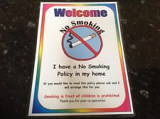 primary educational resource NO SMOKING POSTER  CHILDMINDER
