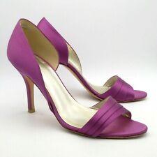 LK Bennett Shoes Sandals Size 5 38 Purple Satin High Hels Peep Toe Open Waist