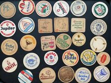 Vintage continental beer mats (85+) German Dutch Belgian