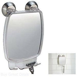 New Fog-Free Mirror Shower Bathroom Bathtub Fogless Shaving Power Lock Suction