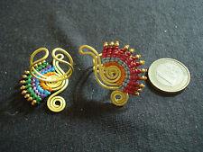 anello regolabile birmania macrame ottone artigianato etnico tribale bigiotteria