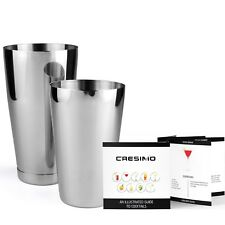 Stainless Steel Boston Shaker: 2-piece Set: 18oz Unweighted & 28oz Weighted P...