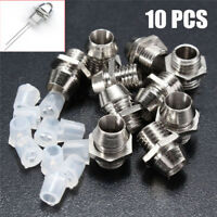 5/10/20PCS 3/5mm LED Holder Chrome Metal Silver Bezel Mount Rubber Base Display~