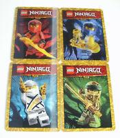 Lego Ninjago Legacy Sticker - alle 4 exklusiven 3D-Karten
