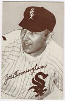 1963 Exhibit Card (W461) with Red Stats of Joe Cunningham, White Sox, EX/MT-NM