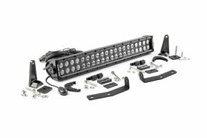 Rough Country For Nissan 20in LED Bumper Kit | Black Series 16-20 Titan XD