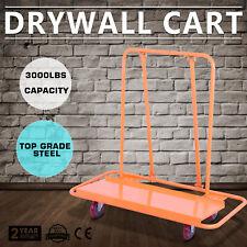 3000LBS Drywall Cart Dolly Pentagon Heavy Duty Plywood Hauling Construction