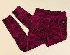 The North Face Pink Purple Camo Print Stretch Athletic Yoga Pants Womens S