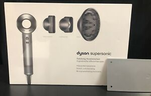Dyson Supersonic Hair Dryer White/Silver HD01 w/Attachments - Sealed In The Box