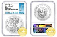 2021 $1 (P) Silver Eagle Emergency Production NGC MS70 First Day Issue