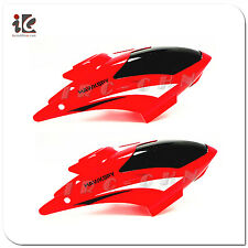 2X RED HEAD COVER/ CANOPY FOR EGOFLY LT-711 HAWKSPY RC HELICOPTER PARTS LT711-01