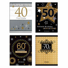 PARTY INVITATIONS 40th 50th 60th 70th Birthday Invites - 20 pages