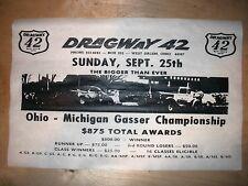 "(583) DRAG STRIP WEST SALEM OHIO DRAGWAY 42 GASSER GARAGE RACE POSTER 11""x17"""