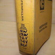 Cat Caterpillar 130g 140g Motor Grader Service Manual Maintenance Shop Repair