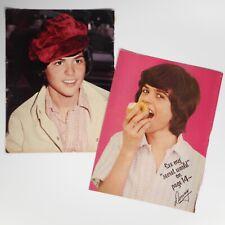 2 Vtg 70s Donny Osmond Poster Magazine Prints Photos