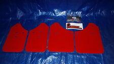 02-07 SUBARU WRX STI RED RALLY MUD FLAPS MUDFLAPS SET HARDWARE URETHANE UR ARMOR