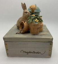 Hallmark Marjolein Bastin Natures Sketchbook Garden Bunny Trinket Box