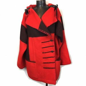 Jean Charles de Castelbajac France VTG Hooded Oversized Coat Drape Collar Large