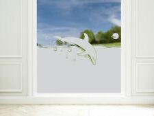 Sichtschutzfolie Delfin maritim blickdichte Fensterfolie Bad Badfenter Dusche
