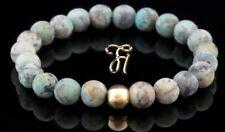 Afrik. Türkis 925er sterling Silber vergoldet Armband Bracelet Perlenarmband