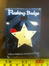 STAR Flashing Badge ! Complete with Battery New Light Up Girl Present Party