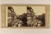 Italia Napoli Museo Archeologico c1865 Foto Sommer & Behles Stereo Albumina