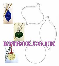 Christmas Bauble Cutters - Perfect for Cookies, Crafts and Cake decorations