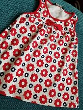 4-5 years girl summer red flowers dress