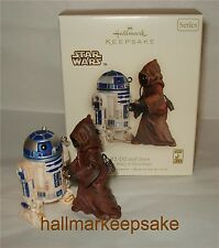 2007 HALLMARK ORNAMENT STAR WARS R2-D2 AND JAWA COLLECTOR'S SERIES A NEW HOPE