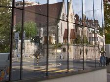 Spiegelfolie - Sonnenschutzfolie Silber dunkel außen - Sichtschutz 0,76 m x 1 m