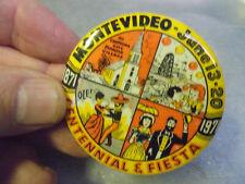 Vintage 1971 Montevideo Minnesota Fiesta Days and Centennial Pinback Button