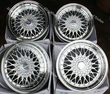 "8.5 x 17"" Silver RS SS Alloy Wheels For Bmw 5 Series E12 E28 E34 E60 E61 F10"