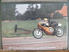 S0104-ADRIE VD BROEKE YAMAHA 250 CC TUBBERGEN 1971 V STRIEN PHOTO COLOR MOTO GP