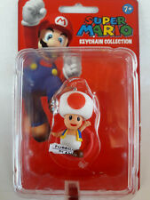 Super Mario Keychain Collection 2009 Nintendo Toad Figure New By Banpresto C/ble