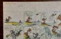"""Disney Studios Original Comic Strip Drawing of """"SCAMP"""" 7/30/78 by Bill Berg"""