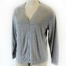 Madewell Plus Size Soft Gray V-Neck Button Down Blouse Cardigan 2X