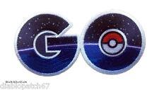 GO Pokemon GO Logo Embroidered Iron On Aufnäher Patch Nintendo  8,9x 4,5cm