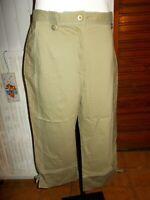 Pantalon court pantacourt kaki surpique bleu UN JOUR AILLEURS 44 stretch N12