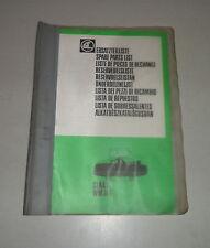 Teilekatalog / Spare Parts List Claas Frontmähwerk WM31F   01/1982