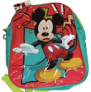 DISNEY MICKEY MOUSE JUNIOR BACKPACK CHILDS KIDS RUCKSACK SCHOOL BAG NEW DESIGN