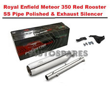 Royal Enfield Meteor 350 Red Rooster Ss Tuyau Poli & Silencieux Échappement