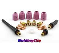 "TIG Welding Torch 17/18/26 Stubby Gas Lens Kit .040""-1/8"" T23C 